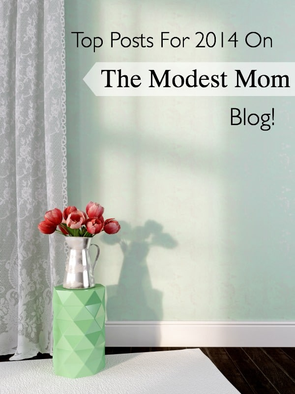 Top Posts from 2014 On The Modest Mom Blog