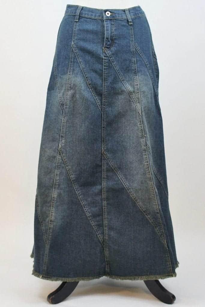 Vintage Wash Denim Skirt is available at Deborah & Co. A lovely fashionable denim skirt!