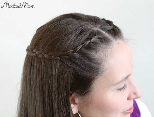 Crown of Braids - an elegant way to pull back bangs that are growing out!