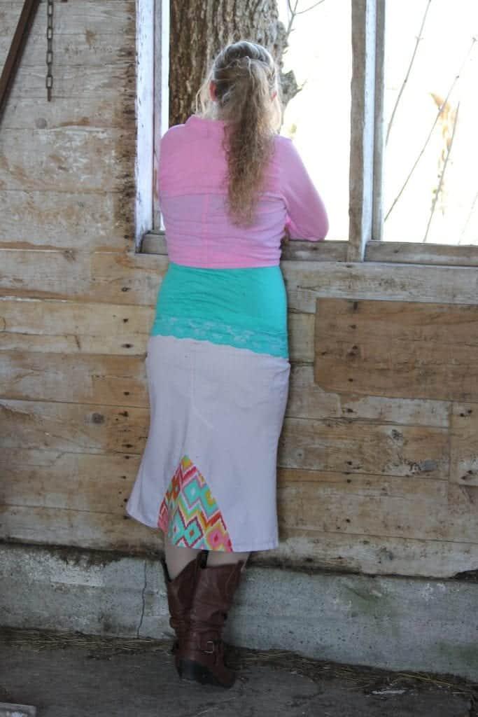 Maternity Khaki Skirt from Skirted Blues