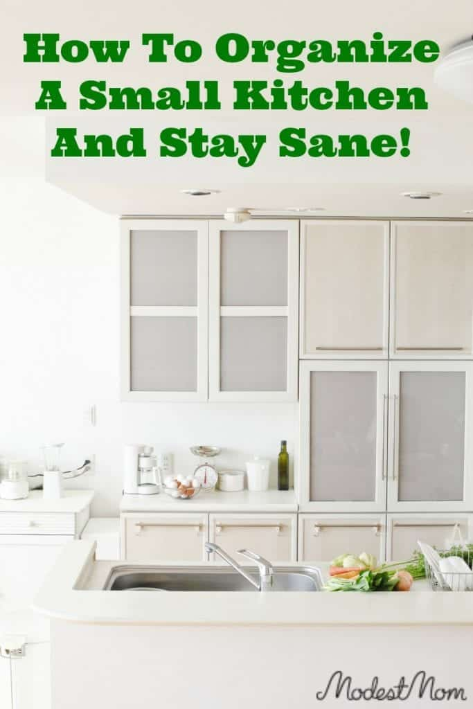 The kitchen is really one of the most important rooms in the whole house. Whether you have a larger family or not, having a small kitchen brings challenges, and it can be hard to organize a small kitchen and stay sane cooking there!
