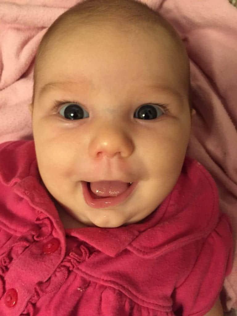 Precious baby smiles!