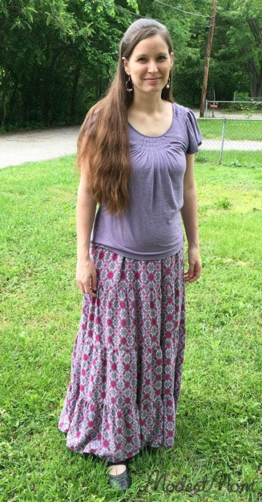 Purple Maxi Skirt with my favorite brand of tops from Kohls!