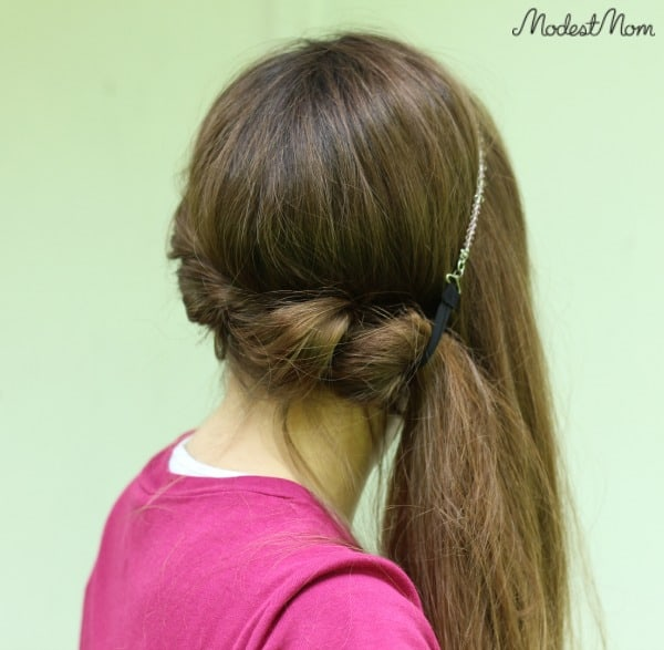 Twist your hair to the side