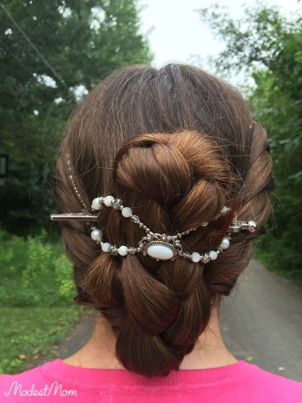 I twisted my hair and put it in a braid with an XL Flexi Clip from Lilla Rose!