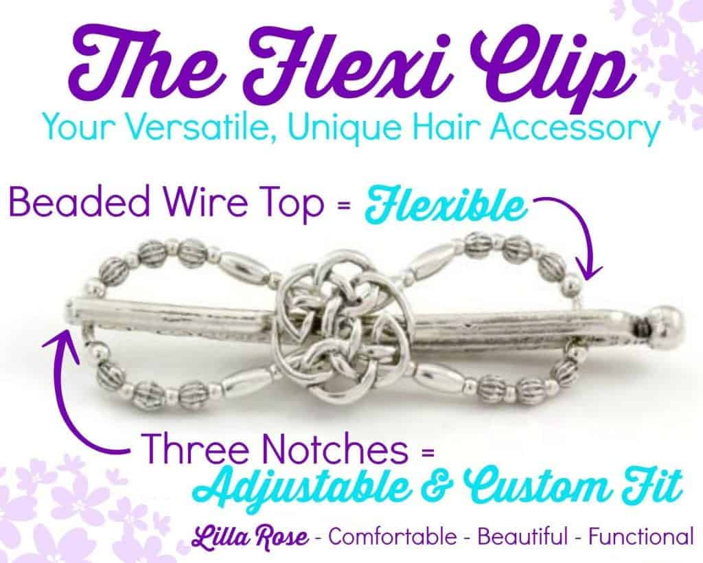 The Flexi Clip is a versatile, unique hair accessory!