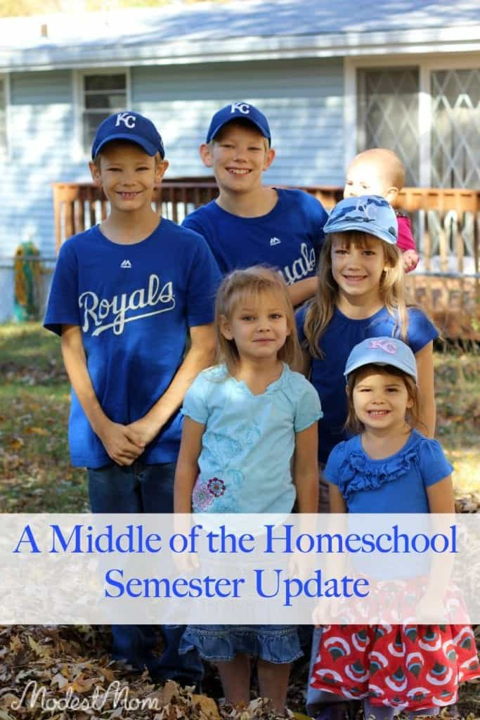 A middle of the homeschool semester update!