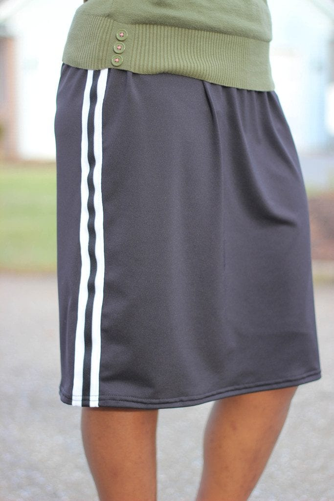 Modest Black Workout Skort