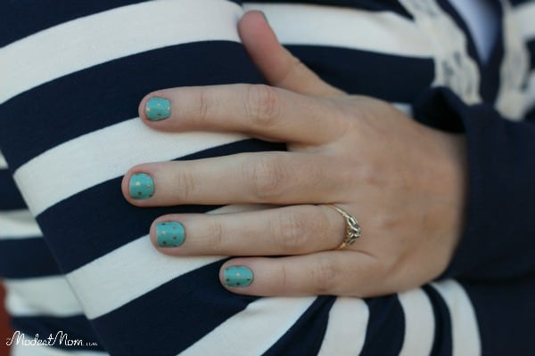 Jamberry Polka Dot nails are so fun to wear and easy to do!