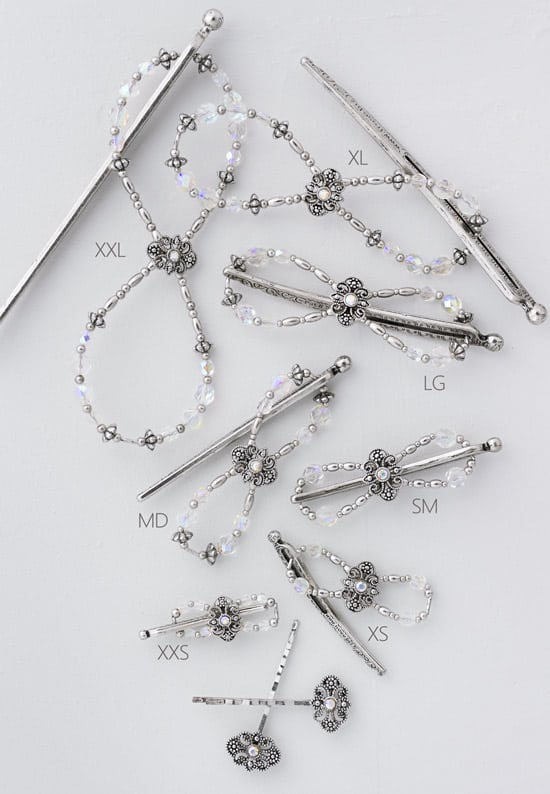 Tiara Crystal Flexi Clip Set