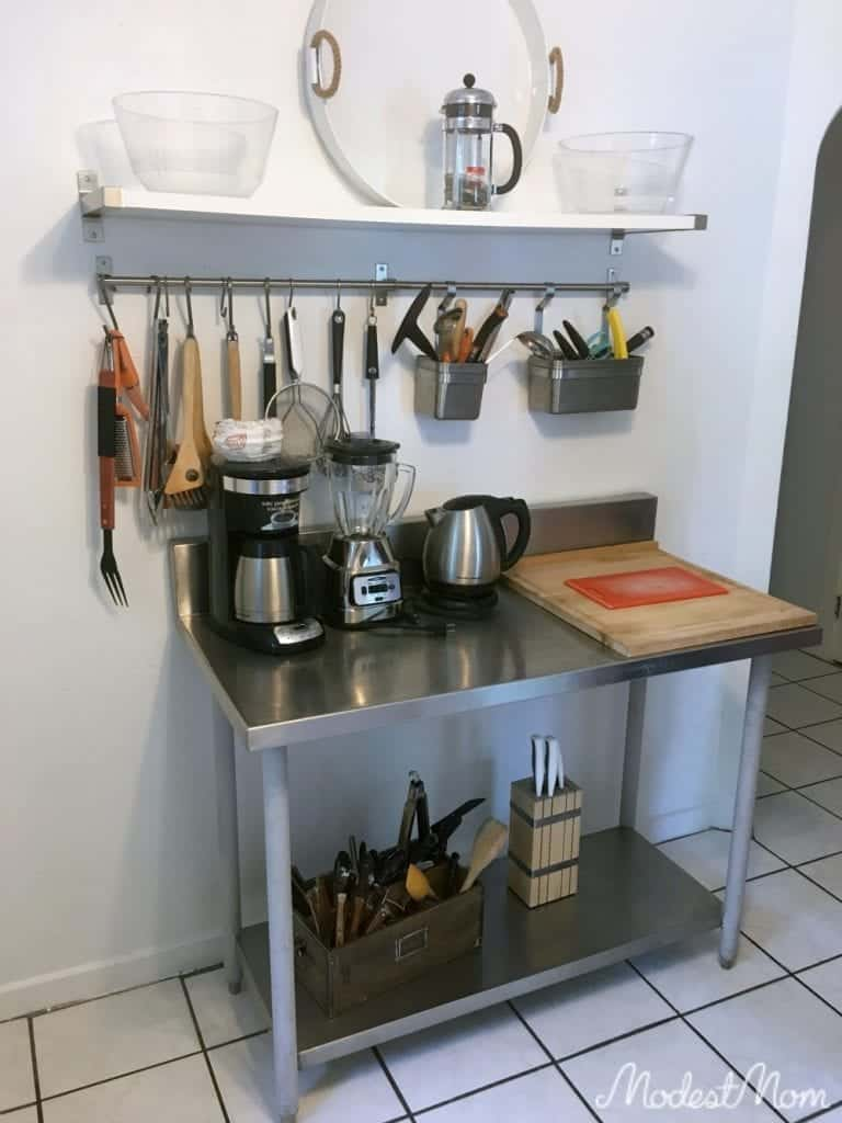 Kitchen tools kept in one spot, and organized!
