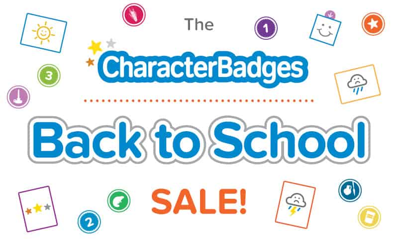 Character Badges Back to School Sale!