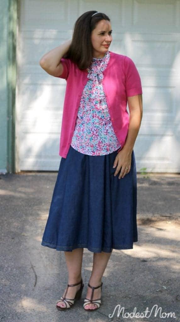 Chambray Skirt from eShakti