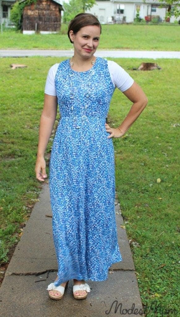 Blue stitch fix maxi dress!