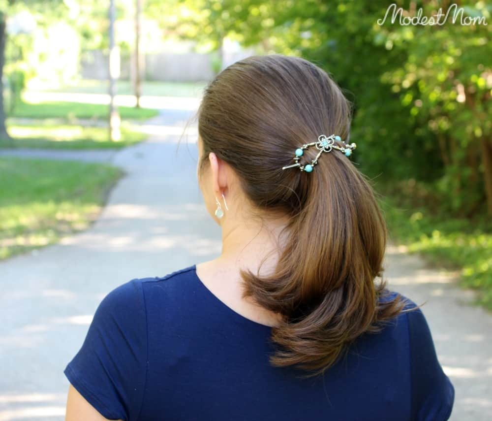 Turquoise Tranquility Flexi Clip from Lilla Rose! Make a cute ponytail that will hold up all day long with a flexi clip!