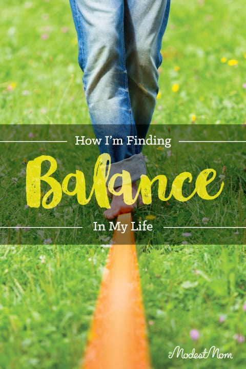 How I'm finding balance in my life. As a busy homeschooling mom, I needed some things to change! Here is what I did.