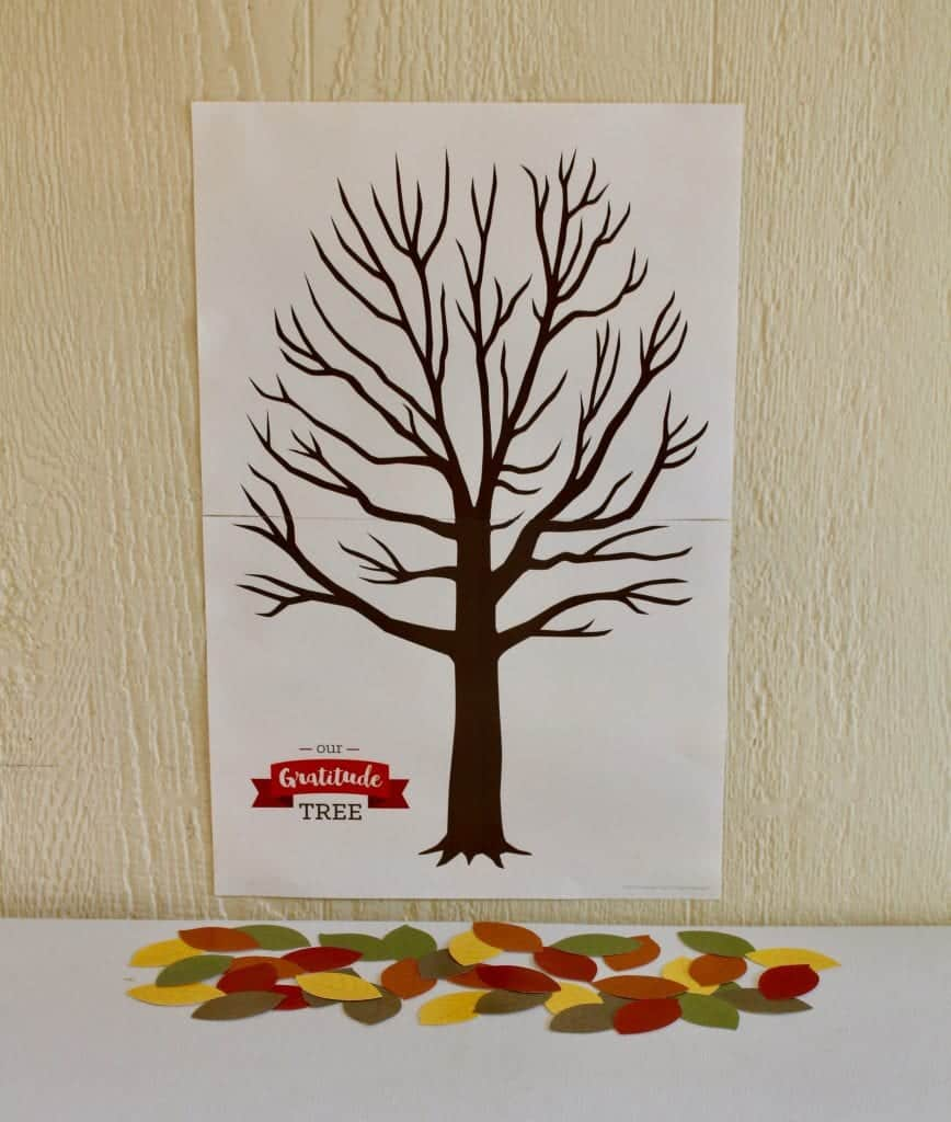 Our Gratitude Tree Printable. Write something you are thankful for each day and put on the tree, and be thankful the whole month of November, not just on Thanksgiving Day! A great craft to do with kids.