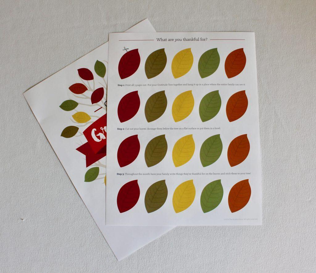 Our Gratitude Tree Printable