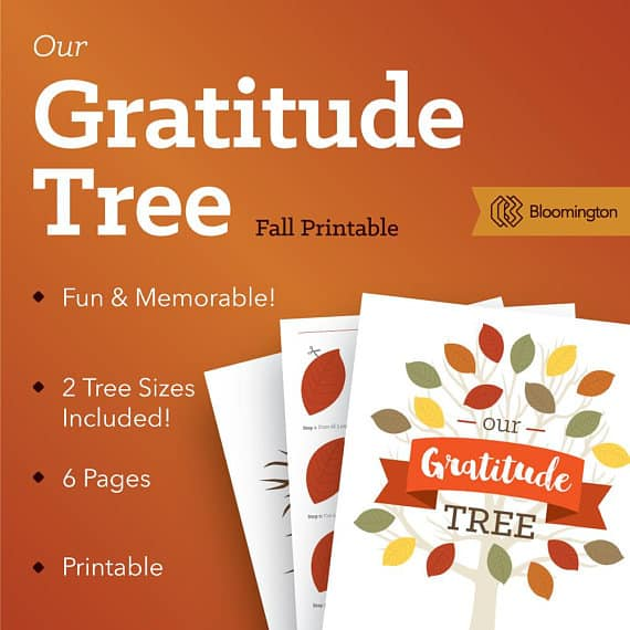 Gratitude Tree for the month of November