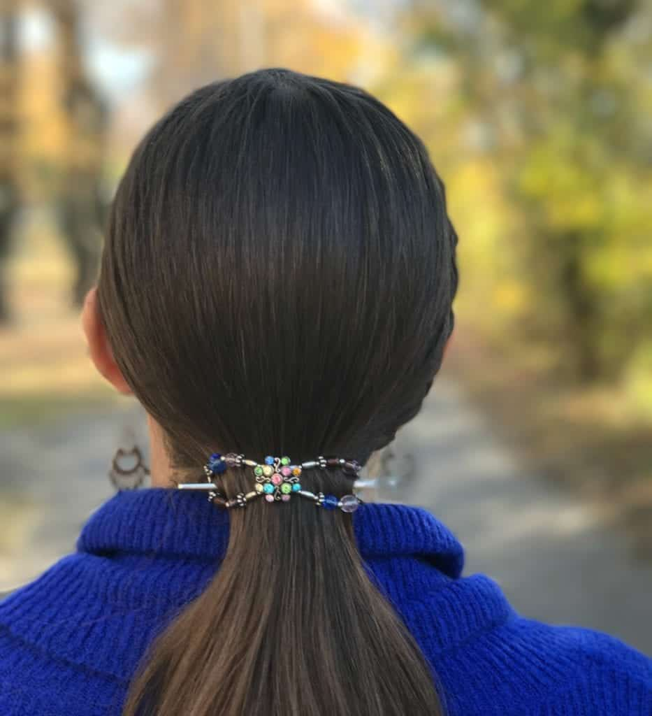 Medium Flexi Clip for a ponytail with thick hair!