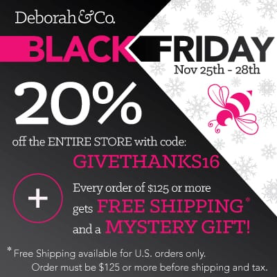 Black Friday sale at Deborah & Co.