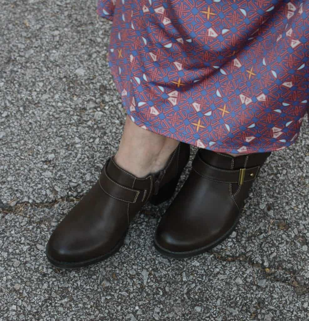 Brown ankle boots from Zulily