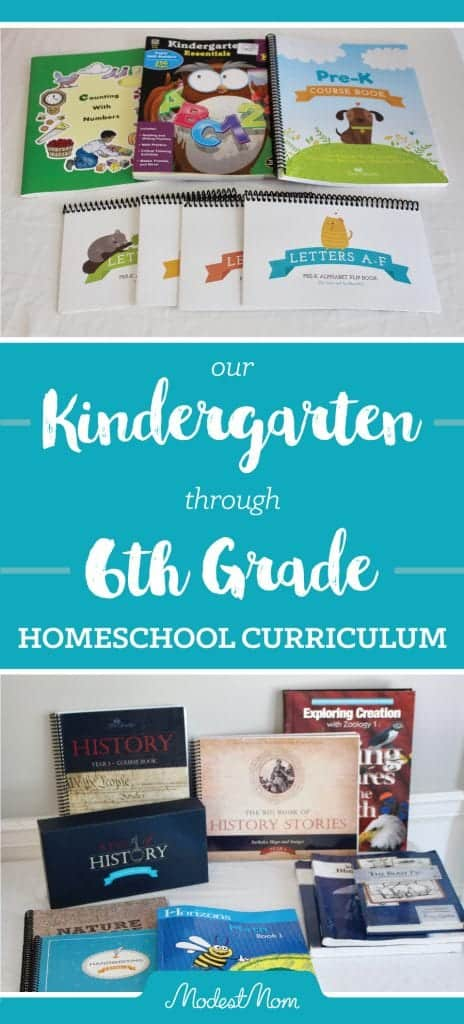 Our Homeschool Curriculum Choices for Sixth Grade, Fourth Grade, Second Grade, and Kindergarten! Heart of Dakota and The Good and The Beautiful, All About Reading and More!