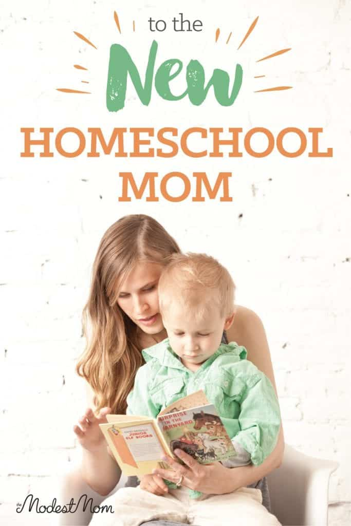 To the New Homeschool Mom...you don't have to feel overwhelmed!