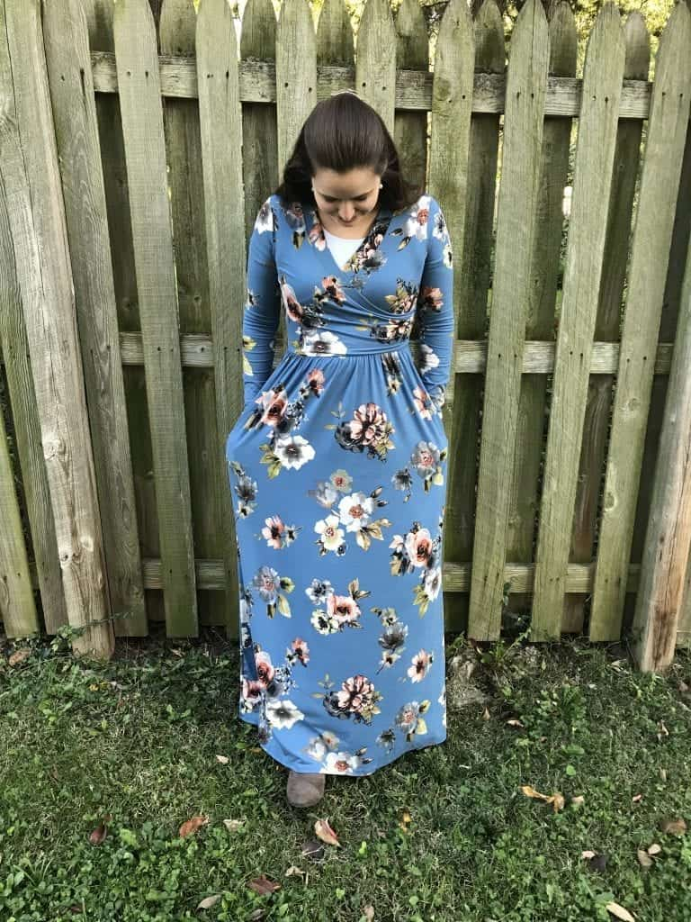 Blue Floral maxi Dress from Deborah & Co.