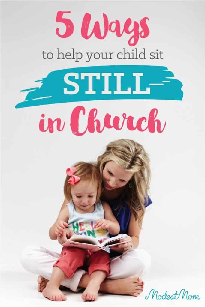 5 ways to Teach a Toddler To Sit Still In Church! It can be frustrating as a parent to want to sit in church and listen to the message, but as parents of younger children it's not always possible. We are currently training our sixth child to sit still in church, and here are some tips!