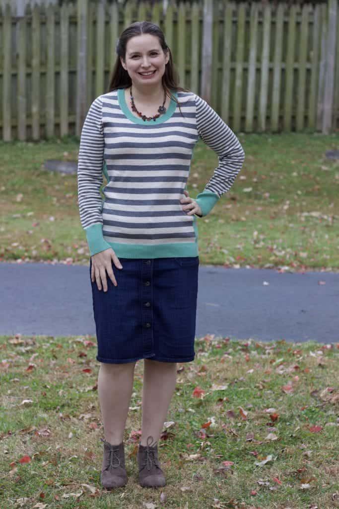Stitch Fix Olive & Oak Maryanne Striped Pullover Sweater