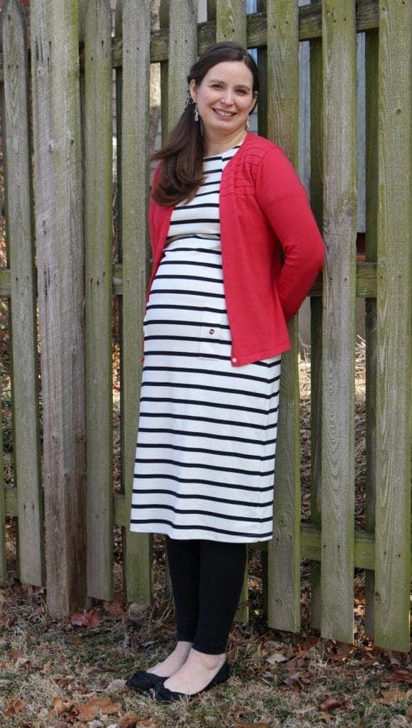 Striped Dress for pregnancy