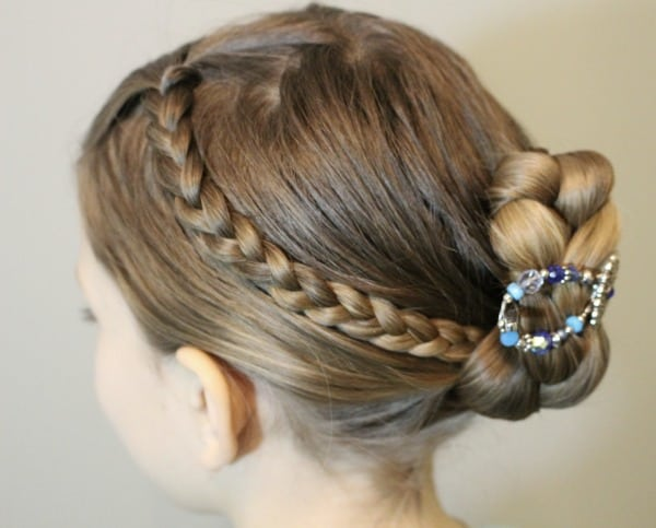 Triple Braid Hairstyle Updo