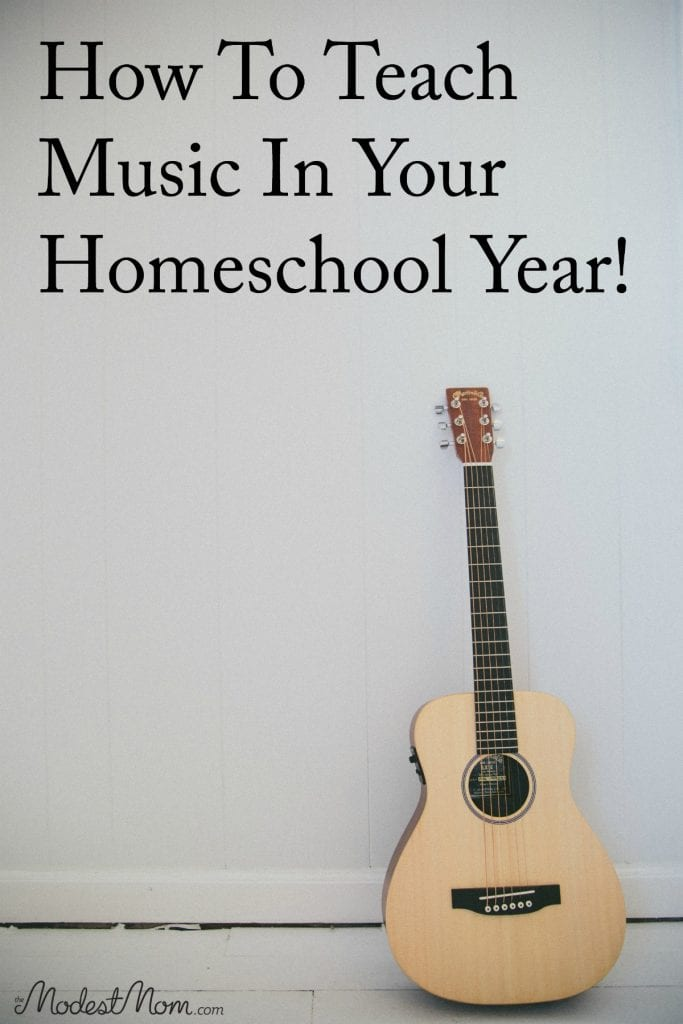 How to teach music in your homeschool year! Even if you don't have an understanding of music, it's possible to pass on a love of classical music to your children!