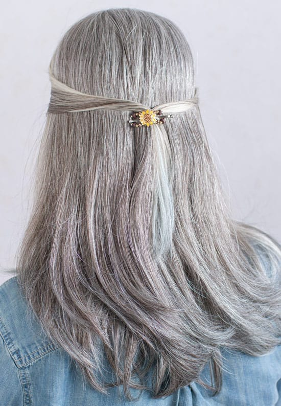 Halfback Hairstyle | Hairstyles for medium length hair | short hair | fall hair | fall hairstyle | Lilla Rose | Flexi Clip | Hair updo | Hair Clip for thick hair | Hair clip for thin hair